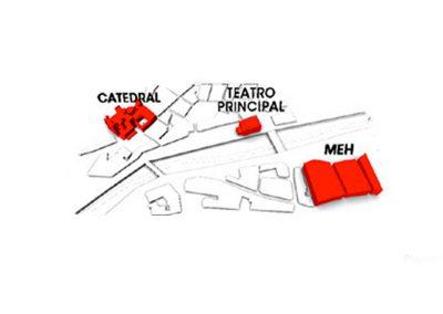 Mapa del Centro Histórico de Burgos